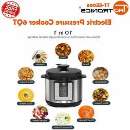 TaoTronics TT-EE006 Electric Pressure Cooker 6QT FDA and ETL
