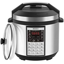 COSORI Upgraded 8-in-1 6 Qt Electrical Pressure Cooker with