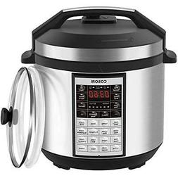 Upgraded 9-in-1 6 Qt Electrical Pressure Cooker With Instant