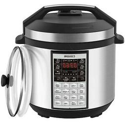 COSORI Upgraded 9-in-1 6 Qt Electrical Pressure Cooker with