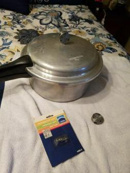 Vintage Mirro 6 Qt Pressure Cooker  And Replacement Parts