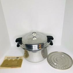 Vintage MIRRO-MATIC 8 Qt Pressure Cooker & Canner Includes S