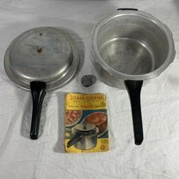 Vintage MIRRO-MATIC Aluminum 4 Qt Pressure Cooker 394M Compl