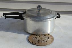 VINTAGE MIRRO-MATIC PRESSURE COOKER CANNER MODEL M-0436 6 QU