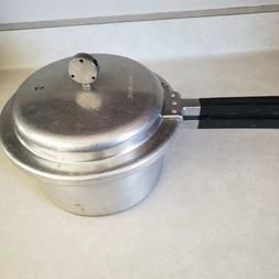 Vtg MIRRO-MATIC 4-Qt Pressure Cooker Aluminum 394M USA Jiggl